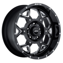 SOTA Offroad Wheels S.K.U.L. - Death Metal (Black Milled) - 24x10.5