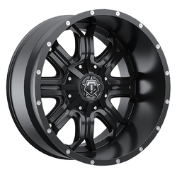 TIS Wheels 535B - Satin Black w/Milled Lip Accents Rim