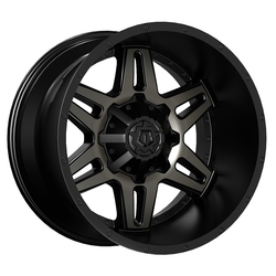 TIS Wheels 538MBDT - Gloss Black w/Machined Face & Dark Tint Rim