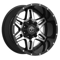 TIS Wheels 538MB - Gloss Black w/Mirror Machined Face Rim
