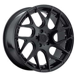 TIS Wheels 542B - Gloss Black with Chrome Rivets Rim
