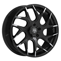 TIS Wheels 542MBT - Gloss Black w/Mirror Machined Spoke Tips Rim