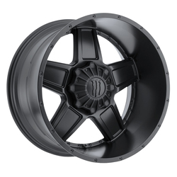 TIS Wheels 543B - Satin Black with Gloss Black Monster M-Claw Logo Rim