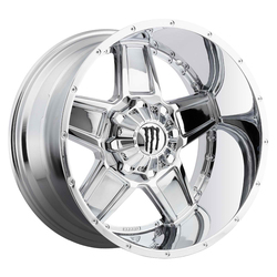 TIS Wheels 543C - Chrome with Gloss Black Monster M-Claw Logo Rim
