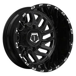 TIS Wheels 544BM Dually Rear - Gloss Black w/Milled Accents Rim