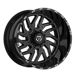 TIS Wheels 544BM - Gloss Black w/ Milled Accents - 22x14
