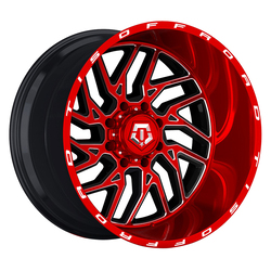 TIS Wheels 544RTM - Bright Red Tint with CNC Milled Accents Rim
