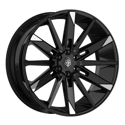 TIS Wheels 545MBT - Gloss Black w/Mirror Machined Spoke Tips Rim
