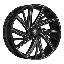 TIS Wheels TIS Wheels 546BM - Gloss Black w/Milled Accents