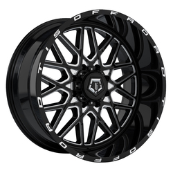 TIS Wheels 548BM - Machined Gloss Black Rim