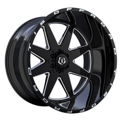 TIS Wheels 551BM - Gloss Black Milled Accents and Lip Logo Rim