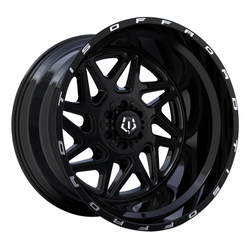TIS Wheels 552B - Gloss Black with Milled Lip Logo Rim
