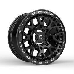 TIS Wheels UTV 558BML - Gloss Black w/Milled Lip Logo Rim