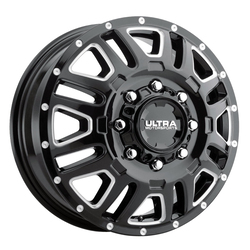 Ultra Wheels Ultra Wheels 003 Hunter Van Dually - Gloss Black w/ Milled Accents and Clear Coat