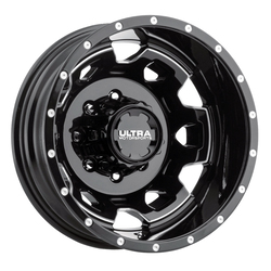 Ultra Wheels Ultra Wheels 017 Warlock Dually - Gloss Black w/ Milled Accents and Clear Coat