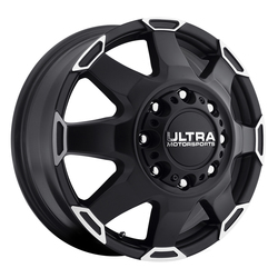 Ultra Wheels Ultra Wheels 025 Phantom Dually - Satin Black w/ Diamond Cut Lip Accents & Satin Clear Coat
