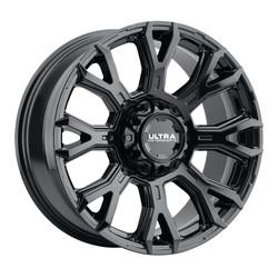 Ultra Wheels 123BK Scorpion - Gloss Black with Clear Coat Rim