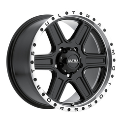 Ultra Wheels Ultra Wheels 176 Vagabond - Gloss Black Face w/ Diamond Cut Lip & Clear Coat