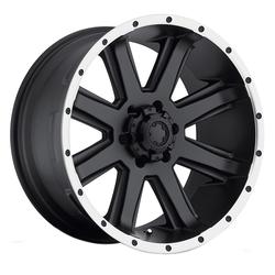 Ultra Wheels 195 Crusher - Satin Black w/ Diamond Cut Lip & Clear Coat