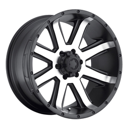 Ultra Wheels Ultra Wheels 195 Crusher - Satin Black w/ Diamond Cut Face & Satin Clear Coat