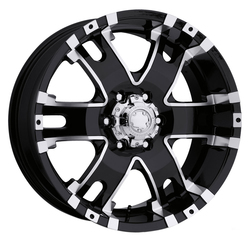 Ultra Wheels Ultra Wheels 201 Baron - Gloss Black with Diamond Cut Accents and Clear Coat