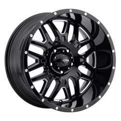 Ultra Wheels Ultra Wheels 203 Hunter - Gloss Black with Milled Accents and Clear Coat