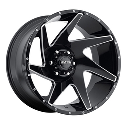 Ultra Wheels Ultra Wheels 206 Vortex - Gloss Black w/ Milled Accents & Clear Coat