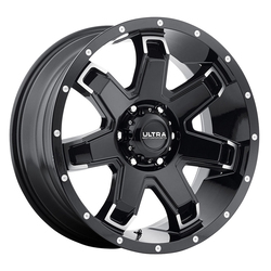 Ultra Wheels Ultra Wheels 209 Bent 7 - Gloss Black w/ Cut Spoke Ends & Milled Lip Dimples