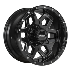 Ultra Wheels Ultra Wheels 217 Warlock - Gloss Black w/ CNC Milled Accents & Clear Coat