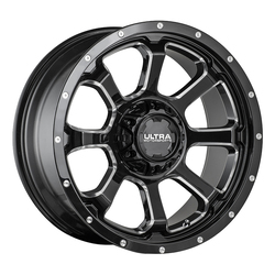 Ultra Wheels Ultra Wheels 219 Nemesis - Gloss Black w/ CNC Milled Accents & Clear Coat