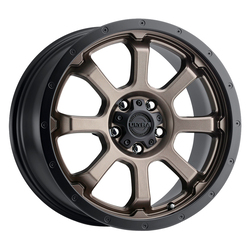 Ultra Wheels 219 Nemesis - Dark Satin Bronze w/Satin Black Lip & Clear-Coat Rim