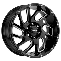 Ultra Wheels Ultra Wheels 221 Carnage - Gloss Black w/ CNC Milled Accents & Clear Coat