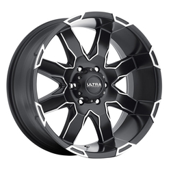 Ultra Wheels Ultra Wheels 225 Phantom - Satin Black w/ Diamond Cut Accents & Satin Clear Coat