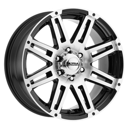 Ultra Wheels Ultra Wheels 226 Machine - Gloss Black w/ Diamond Cut Face & Clear Coat