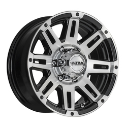 Ultra Wheels Ultra Wheels 226 Machine Trailer - Gloss Black w/ Diamond Cut Face & Clear Coat