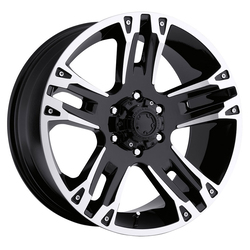 Ultra Wheels Ultra Wheels 234 Maverick - Gloss Black w/ Diamond Cut & Clear Coat