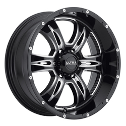 Ultra Wheels Ultra Wheels 249 Predator II - Gloss Black w/ Milled Accents and Clear Coat