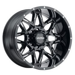 Ultra Wheels Ultra Wheels 254 Carnivore - Gloss Black w/ Milled Accents