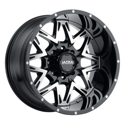 Ultra Wheels Ultra Wheels 254 Carnivore - Gloss Black w/ Diamond Cut Face