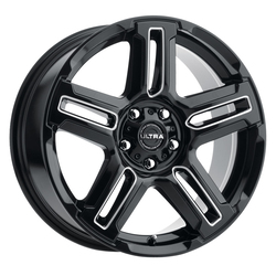 Ultra Wheels Ultra Wheels 258 Prowler CUV - Gloss Black with Milled Accents and Clear Coat
