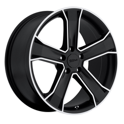 Ultra Wheels Ultra Wheels 423 Knight - Gloss Black w/ Diamond Cut & Clear Coat