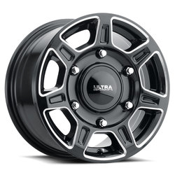 Ultra Wheels Ultra Wheels 450 Super Single - Gloss Black w/ Milled Accents