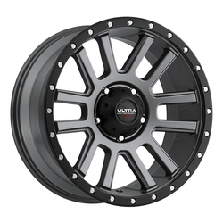 Ultra Wheels Ultra Wheels 107 Xtreme - Satin Graphite w/ Satin Black Lip and Satin Clear Coat
