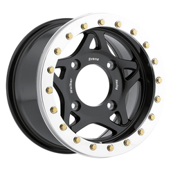 Walker Evans Racing Wheels 500BK UTV True Beadlock - Gloss Black w/ Machined Beadlock Ring