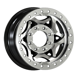 Walker Evans Racing Wheels 500U True Beadlock - Machined Face & Beadlock Ring/Gloss Black Accents
