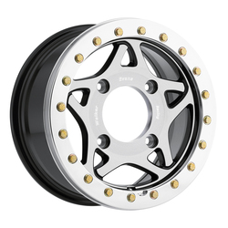 Walker Evans Racing Wheels 500U UTV True Beadlock - Machined Face & Beadlock Ring/Gloss Black Accents