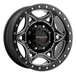 Walker Evans Racing Wheels 501BM Legend II - Satin Black/CNC Milled Accents Black Lip