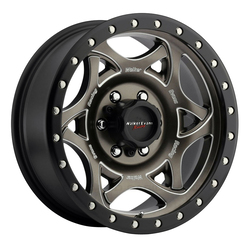 Walker Evans Racing Wheels 501BZM Legend II - Satin Bronze/CNC Milled Accents Black Lip