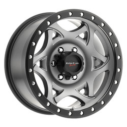 Walker Evans Wheels 501GN Legend - Satin Graphite with Black Lip Rim