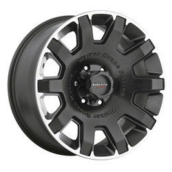 Walker Evans Racing Wheels 505U Bullet Proof - Satin Black with Machined Accents and Clear Coat